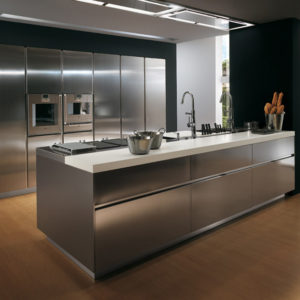 Stainless-Steel-kitchen-cabinet-