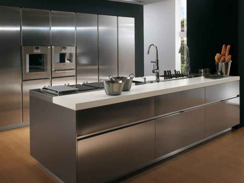 Stainless-Steel-kitchen-cabinet-