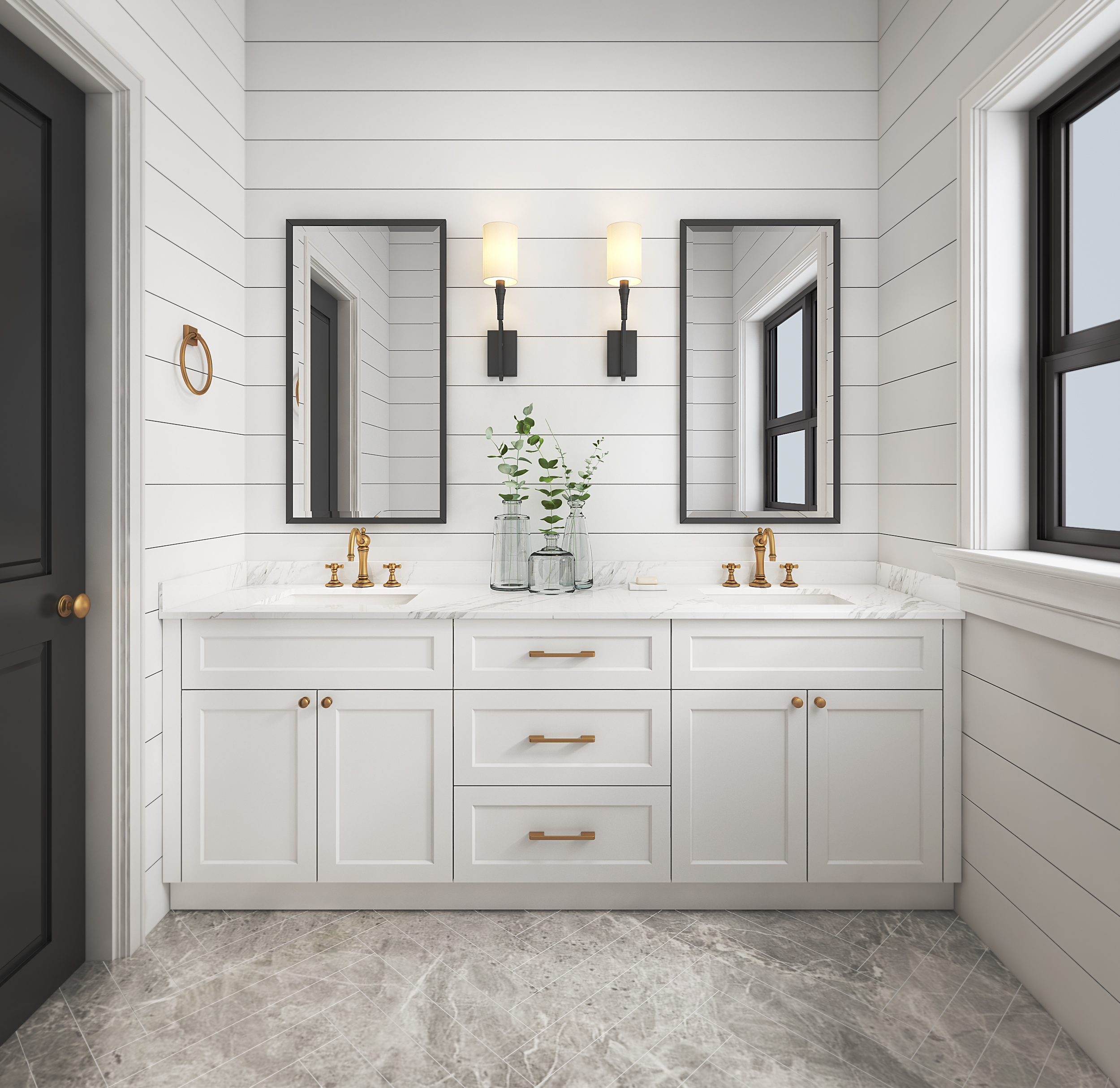 Shaker Style Bathroom Vanity - Prodeco Customized Kitchen ...