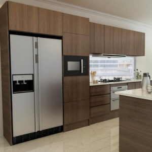 Factory Supply Melamine Kitchen Cabinet Design