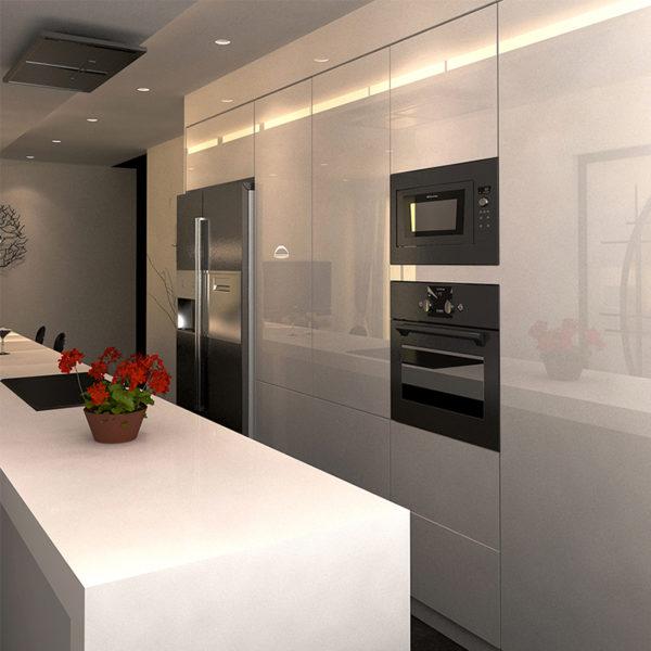 Flat Pack White Gloss Kitchen Set
