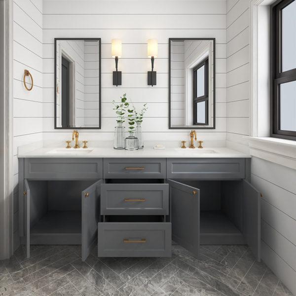 New Design Wooden Bathroom Cabinet Vanity Bathroom Furniture