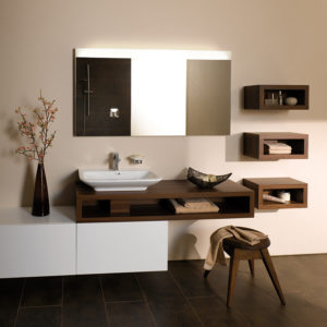 MDF Bathroom Storage Cabinets PVC Bathroom Cabinet