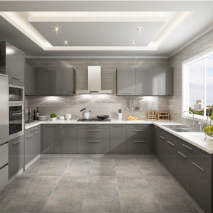 Metallic Lacquer modern design kitchen cabinet