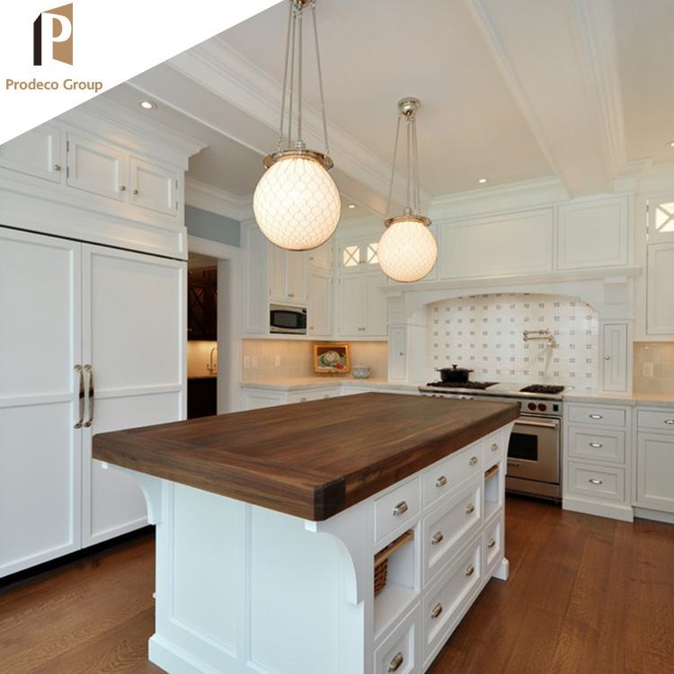 pure white shaker wooden kitchen hanging cabinet