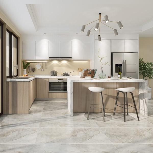 Assemble Modern High Gloss White Kitchen Cabinets