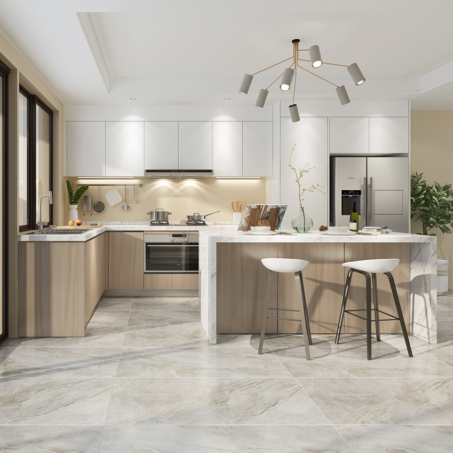 High Gloss Kitchen Cabinets: Assemble Modern High Gloss White Kitchen Cabinets