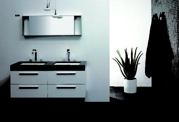 Modern Mirror Wall Hanging Cabinets Bathroom Vanity Set