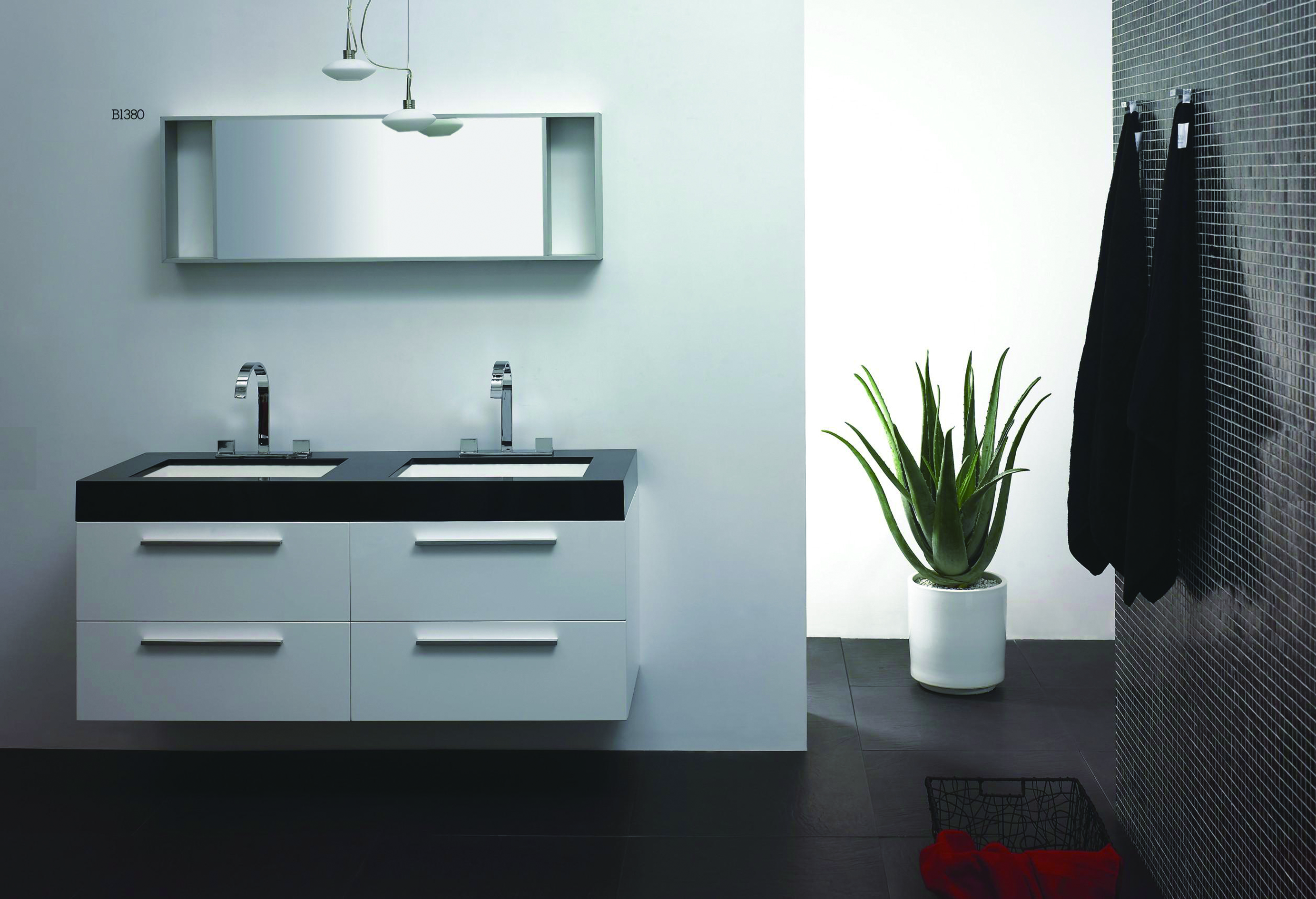 Modern Mirror Wall Hanging Cabinets
