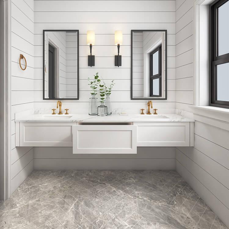Bath Vanity Set Small Waterproof Pvc Commercial Bathroom Cabinet