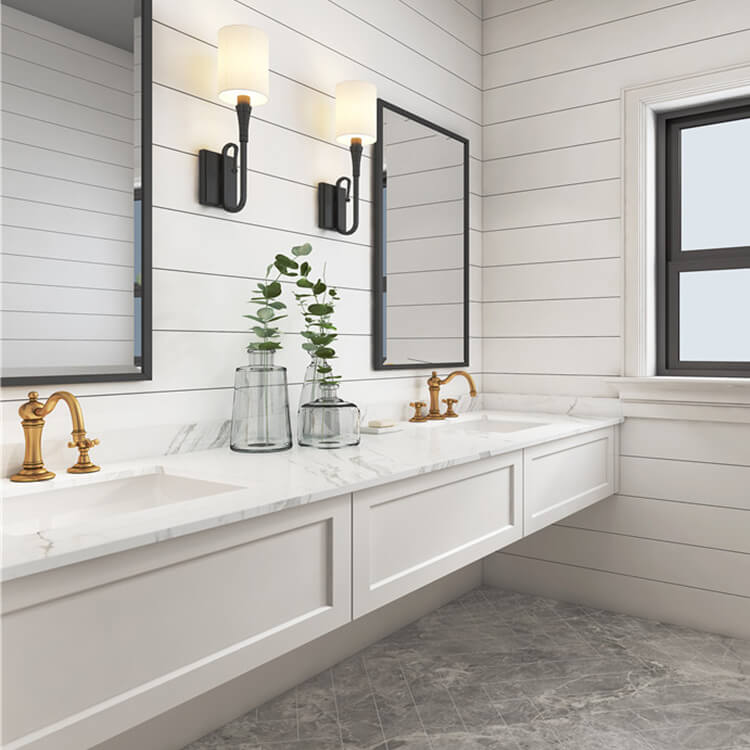 Bath Vanity Set Small Waterproof PVC Commercial Bathroom ...