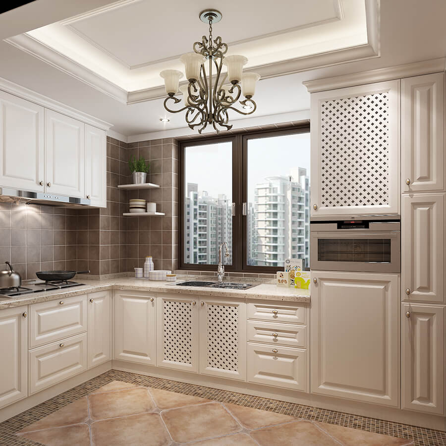 Will White Kitchen Cabinets Stay In Style: Antique White Kitchen Cabinet Designs Cherry Solid Wood