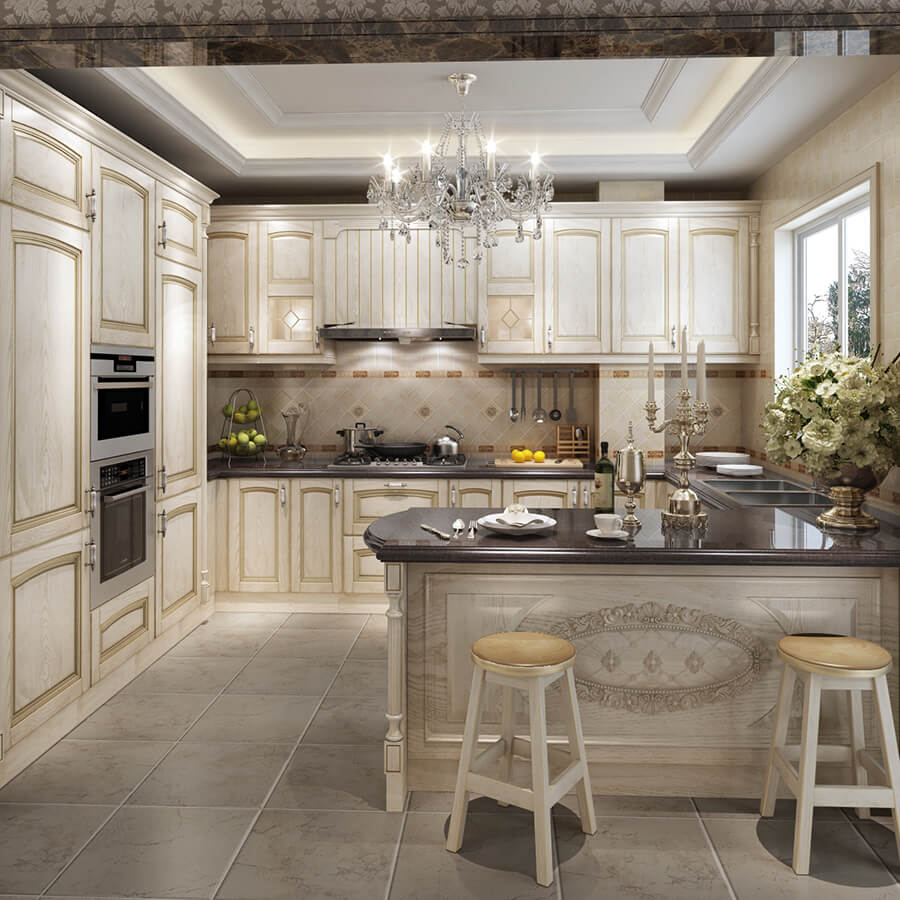 Antique White Kitchen: Antique White Kitchen Cabinet Designs Cherry Solid Wood