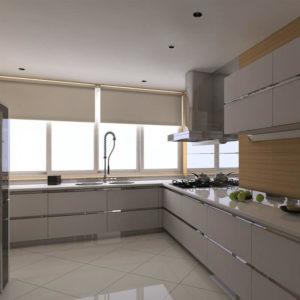 Solid Wood Kitchen Cabinet Furniture