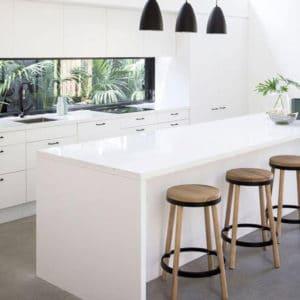 white corner cabinet