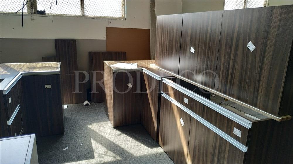wood veneer kitchen cabinet